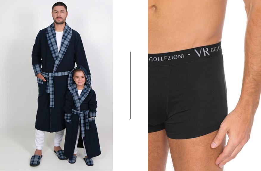 Esquerda: Pijamas da D´Marju Sleepwear | Direita: Expositor Diversitá