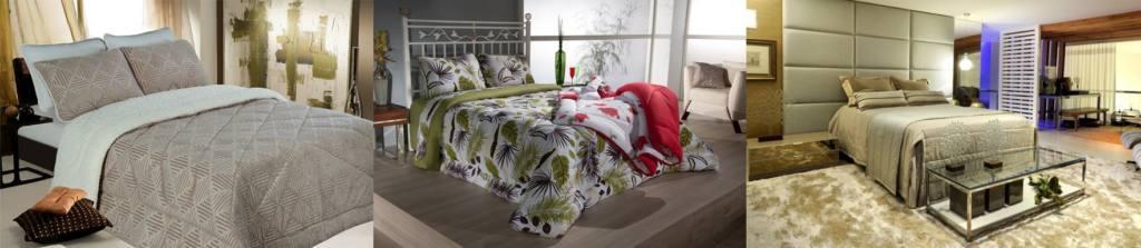 Da esquerda para direita: Colloda Moda Casa | Nirvana Confecções | Confecções Novello estão no Portal da Feira de Inverno e tem opções para vestir a sua cama