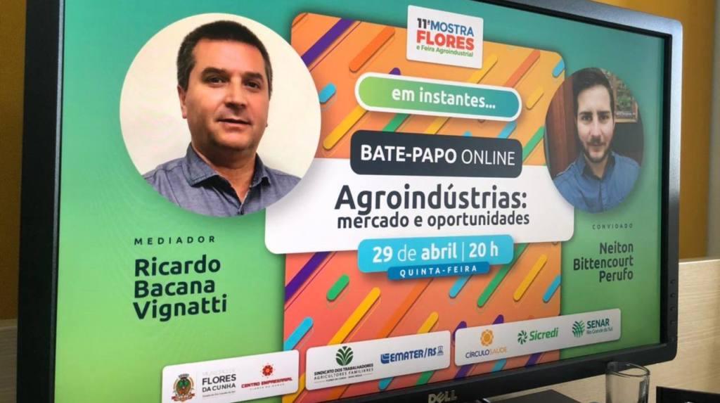 Mostra Flores e Feira Agroindustrial promovem live sobre agroindústrias