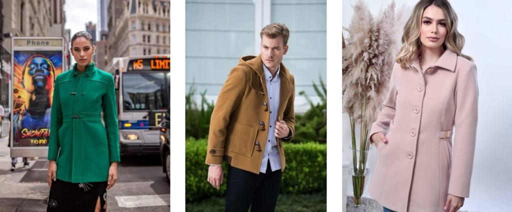 Peças de inverno obrigatórios, os casacos de lã são atemporais. Da Esquerda Moni Casacos de Lã, Rigotto e BBVA