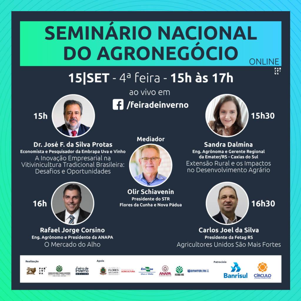 Programa do seminário acontecerá das 15 às 17h